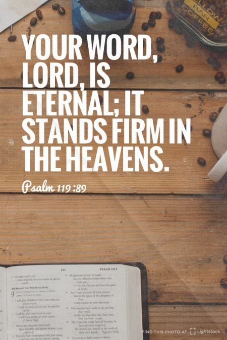 @dasscherick  Your Word, Lord, is eternal; it stands firm in the heavens. Amen! www.reachavillage.org http://www.sdahymnal.net/