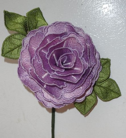 machine embroidery 3d flowers