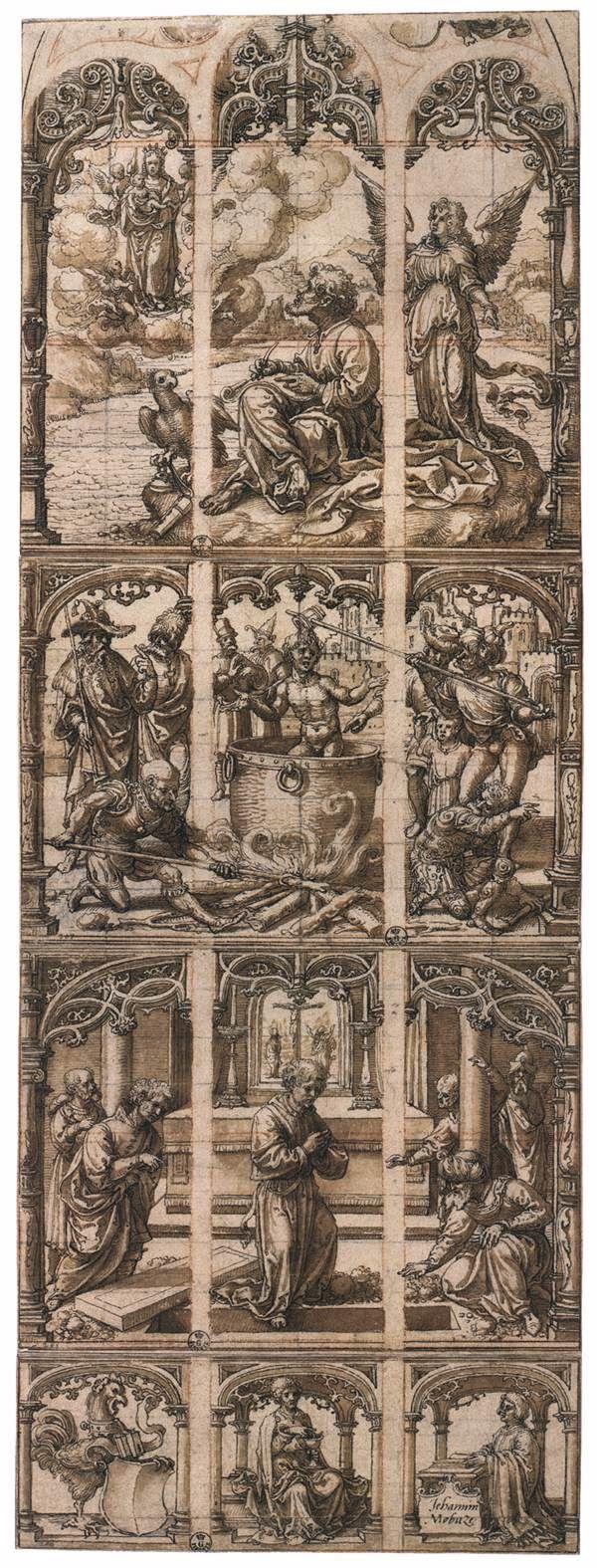 Σχεδιασμός για γυάλινο παράθυρο (1520ς)