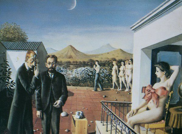 245 best images about balthus delvaux on pinterest oil for Paul delvaux le miroir