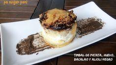 pa mojar pan!: Timbal de patata, huevo, bacalao confitado y allio...