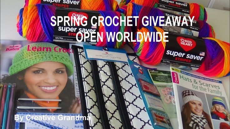 Spring Crochet Giveaway - Open Worldwide - Ends March 21, 2018 - YouTube