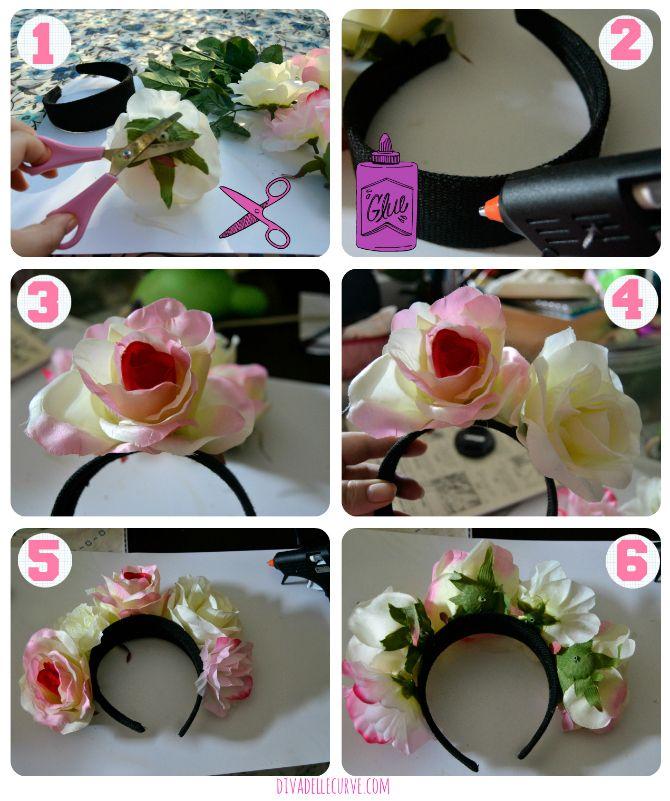 #tutorial #diy di una coroncina di fiori #flowercrown #howto