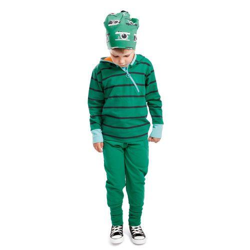 Green/ Graphite NOSH Zipper Hoodie. organic cotton