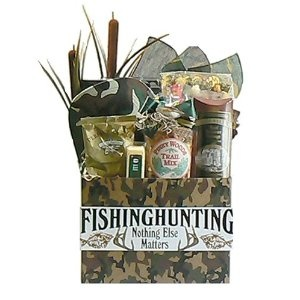 Nothing Matters but Fishing and Hunting Gift Basket Valentines Gift Idea for Him