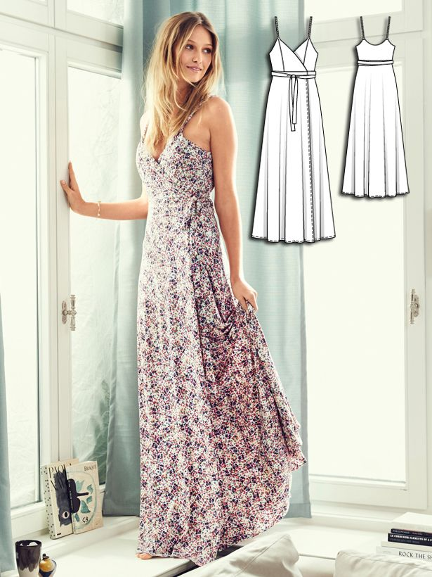 Patterns maxi dress