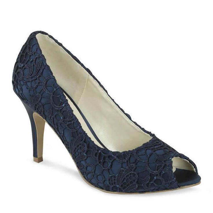 Pink Paradox Cosmos Navy Blue Lace Shoes