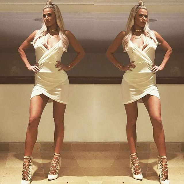 """This babe @thelanawwe is always killing it 👸🏼💁🏼 Wearing the """"Alison Mini…"""
