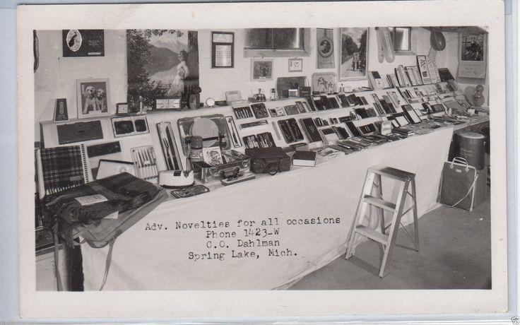 RPPC Spring Lake Mich Novelty Store Interior 1950s | eBay