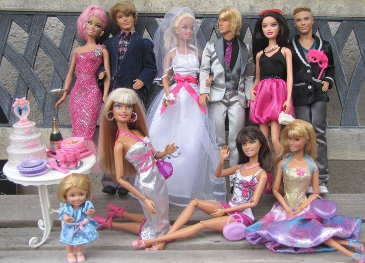 Mariage de Barbie ! Ken,Ryan,Teresa,Raquelle,Shelly + gâteau..Fashionista's doll