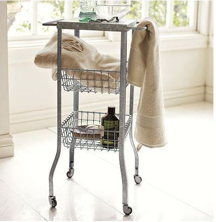 34 Best The Organized Small Bathroom Images On Pinterest Magnificent Small Bathroom Cart Design Inspiration