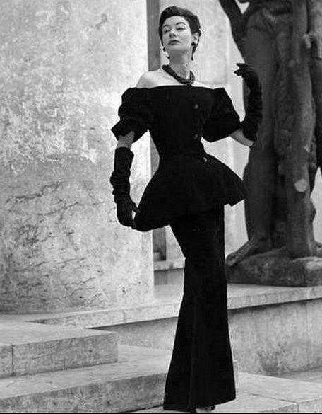 Dinner ensemble by Dior, 1954