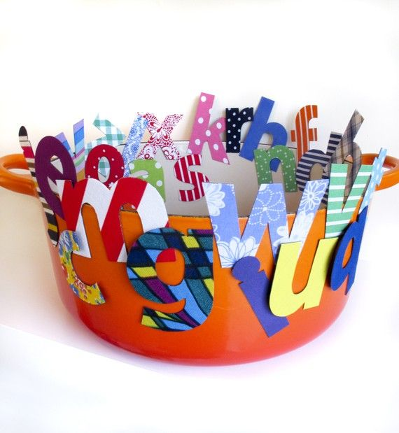 For the magnet wall......great resource!  alphabet+soup+magnets++26+letters+bold+bright+by+tinchDesignStudio,+$65.00