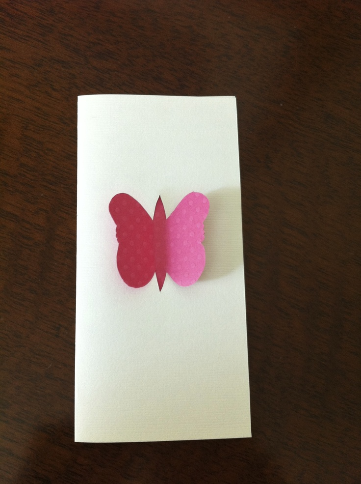 Butterfly pop-through card for a good friend's wedding.