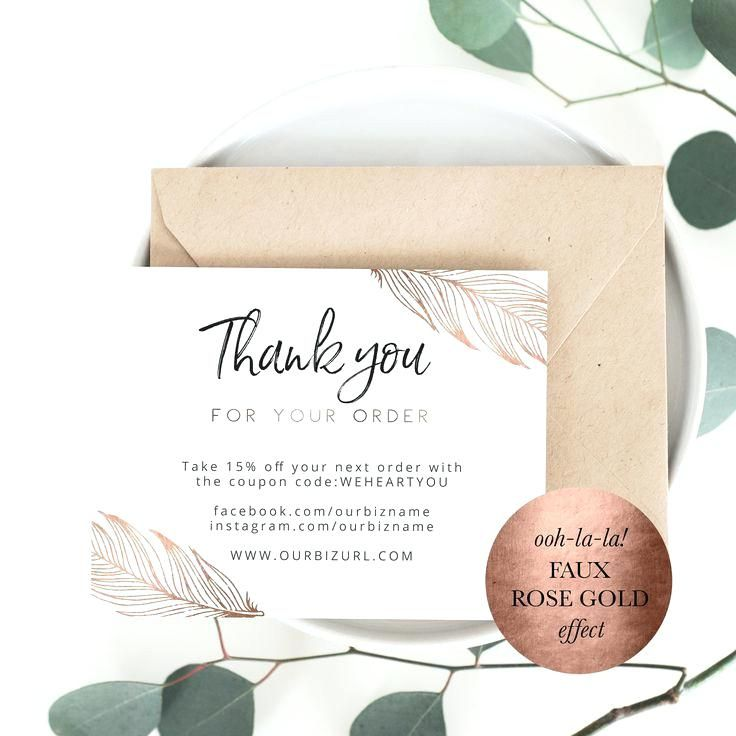 Custom Thank You Cards For Business Best Of Packaging Inserts