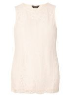 Womens Nude lace shell top- Nude