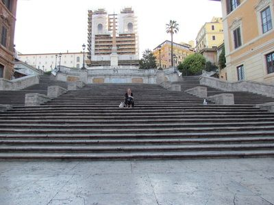 Spanish Steps, Rome, 6:30 monday morning! Wow