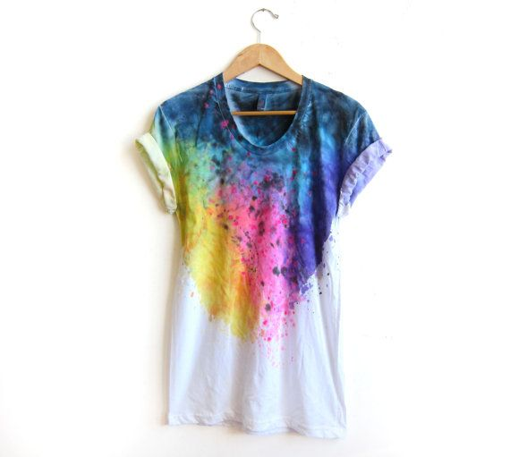 The Original Splash Dyed Hand PAINTED Scoop Neck by twostringjane, $48.00