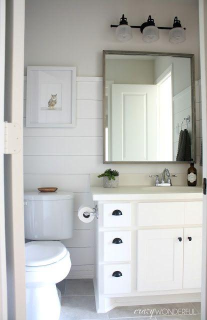 DIY shiplap, boy's bathroom reveal