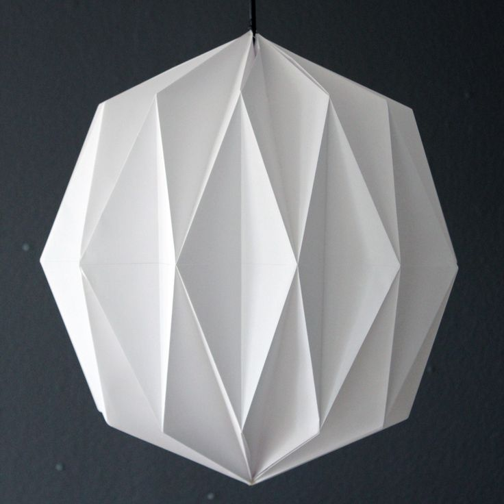 Origami lampshade folded by Marie Dam Holsting