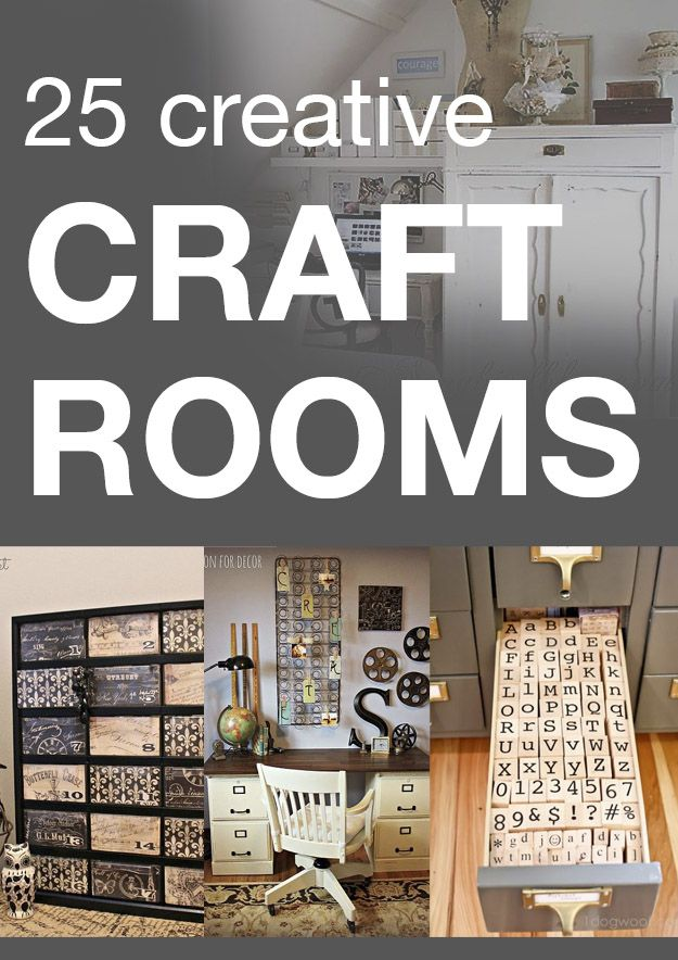 25 creative craft rooms - decor and organizing inspiration