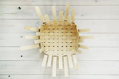 DIY Woven Baskets Pictorial How-To Tute - fold over outer reeds