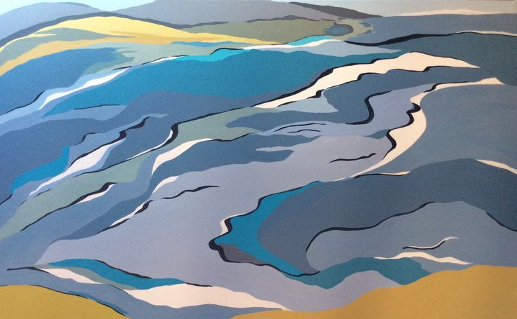 From Inverloch to Venus Bay. Acrylic on canvas by Robyn Henchel.