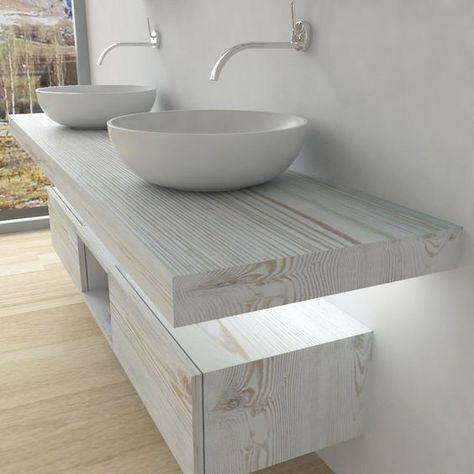 Mobili bagno Mensola per lavabo con LED (con immagini