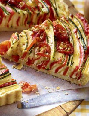 Heute gibt es eine Veggie-Tarte: http://kochen.gofeminin.de/rezepte/rezept_bunte-veggie-spiraltarte_338496.aspx  #vegetarisch (Vegan Recipes Pizza)