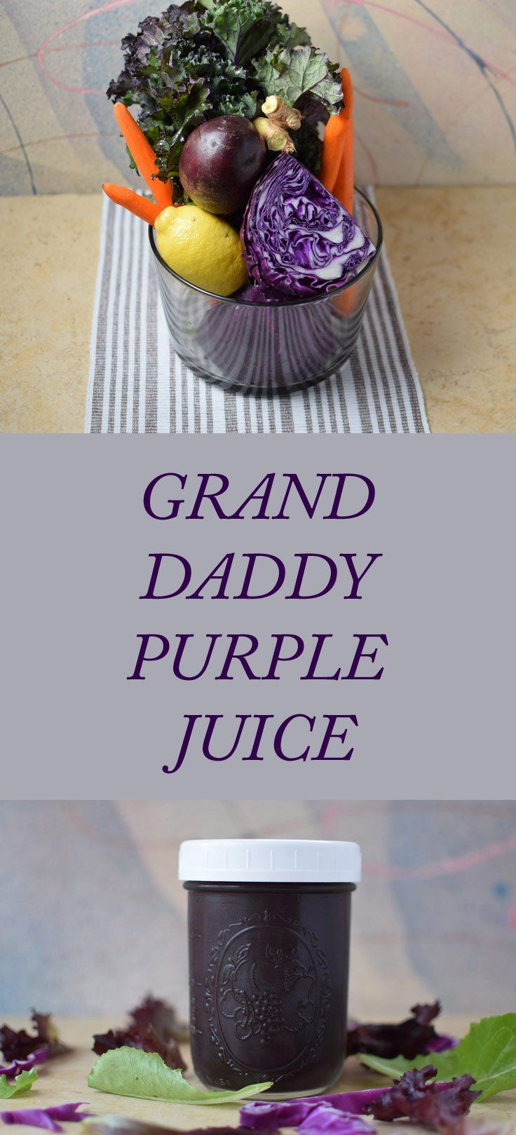 This beautiful purple juice is anti-cancer and nutrient packed. A great detoxifying and cleansing juice