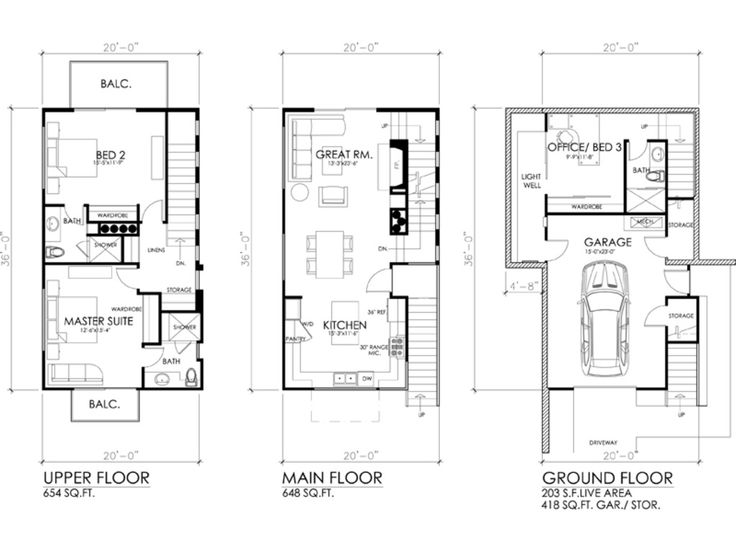 Three Story House For Small Sloped Block Future Home