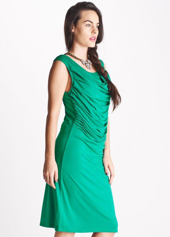 Queen Bee Margueritte Green Breastfeeding Dress by Floressa Clothing