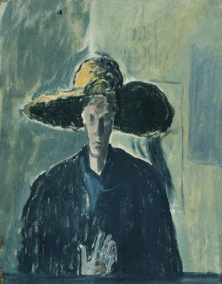 Ilka Gedo (1921-1985), 'Self Portrait with Hat' 1944