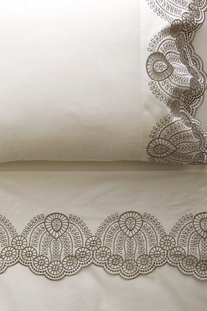 Eyelet Embroidered Sheet Set - so simple and elegant #anthropologie #pintowin