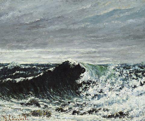 La vague (Edimbourg), par Gustave Courbet