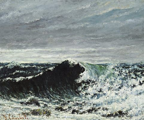 La vague (Edimbourg), par Gustave Courbet ══════════════════════  BIJOUX  DE GABY-FEERIE   ☞ http://gabyfeeriefr.tumblr.com/ ✏✏✏✏✏✏✏✏✏✏✏✏✏✏✏✏ ARTS ET PEINTURES - ARTS AND PAINTINGS  ☞ https://fr.pinterest.com/JeanfbJf/artistes-peintres-painters/ ══════════════════════