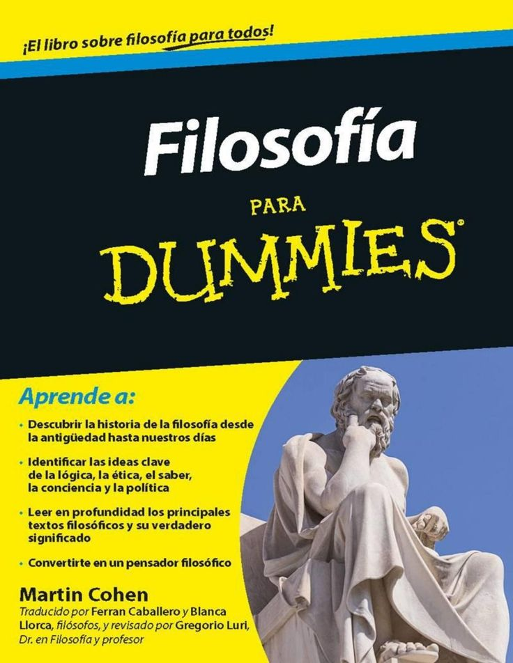 Filosofía Para Dummies. COMPLETO