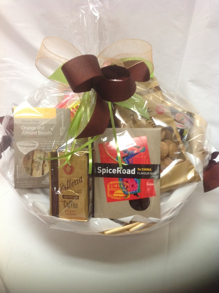 12 best send a basket sendabasketsa priced gift baskets hampers 11500au house warming gift basket coffee biscotti biscuits snacks and negle Images