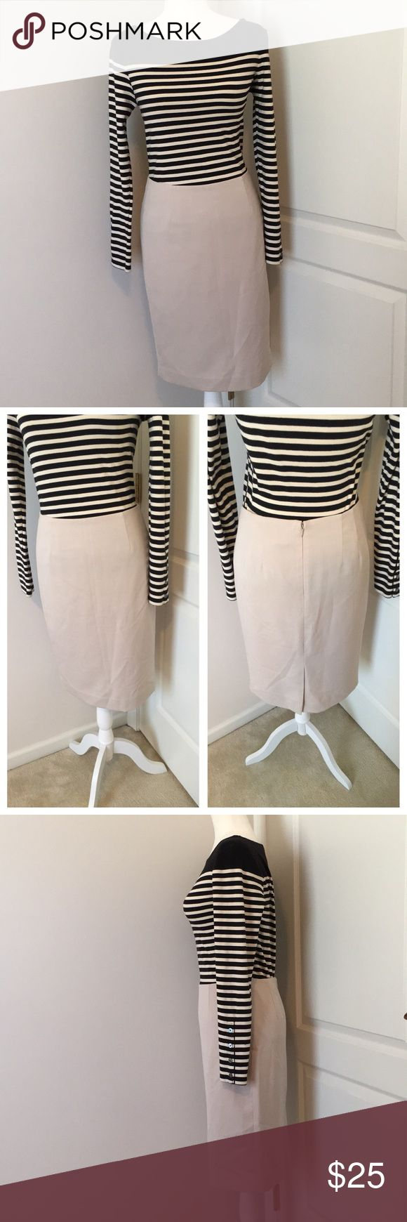 """NWT! AK by Anne Klein Pencil Skirt New with tags! Pencil skirt has darting all over and is fully lined. Made of 76% Polyester, 22% Viscose and 2% Elastane. Lining is 100% Polyester. Zipper and hook and eye closure in the back. Measures 14"""" across at waist and is almost 23"""" long from top of waist to bottom hem. Has two tiny holes on top front left side as shown in last pic-price reflects damage. Top available for sale in separate listing. Anne Klein Skirts Pencil"""