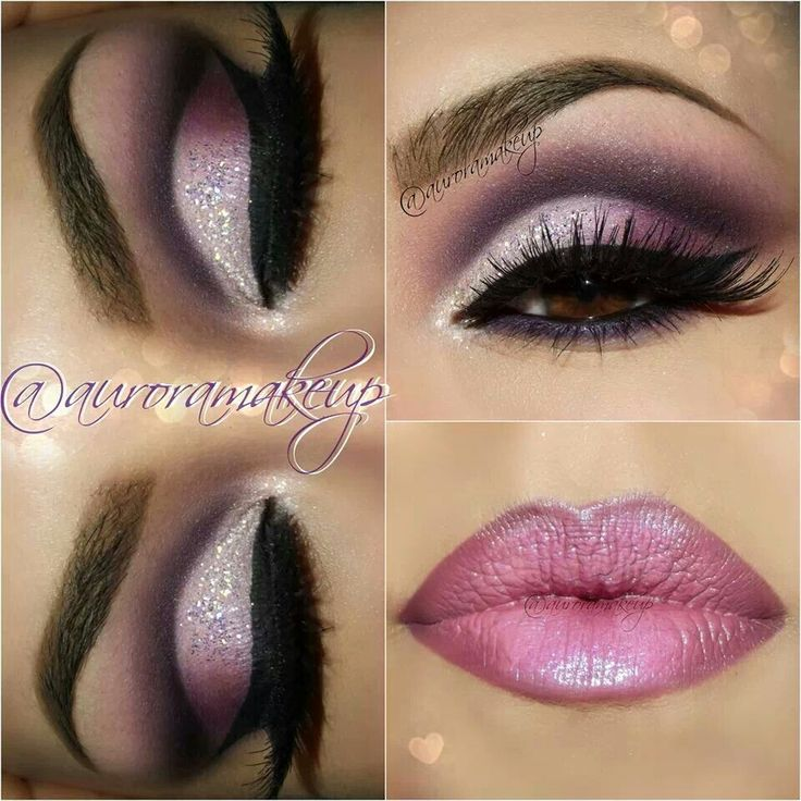 Sultry eyes and lips