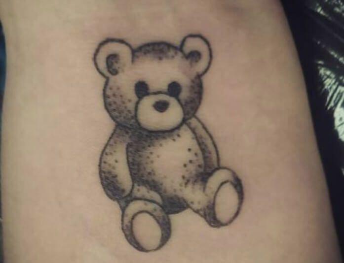 12 Small Teddy Bear Tattoo Ideas Petpress In 2020 Teddy Bear Tattoos Bear Tattoo Designs Bear Tattoo