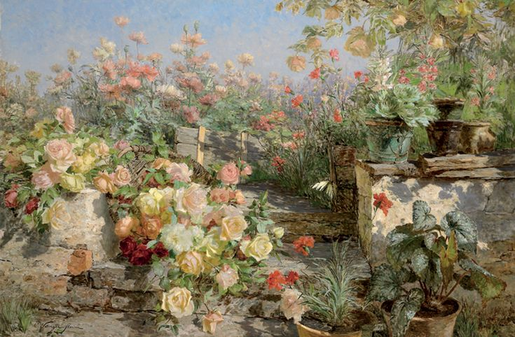 Olga_Wisinger-Florian_-_Blühender_Bauerngarten.jpg (917×601)