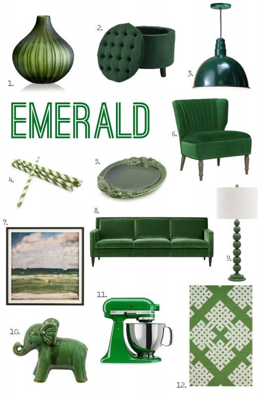For the Love of Color: Emerald All of this, especially the elephant