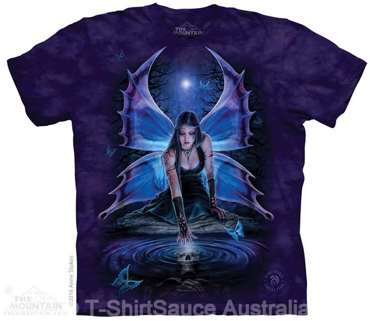 Immortal Flight Adults Fairy T-Shirt by Anne Stokes : The Mountain - 2017 Collection : T-Shirtsauce Australia: The Mountain T-Shirts