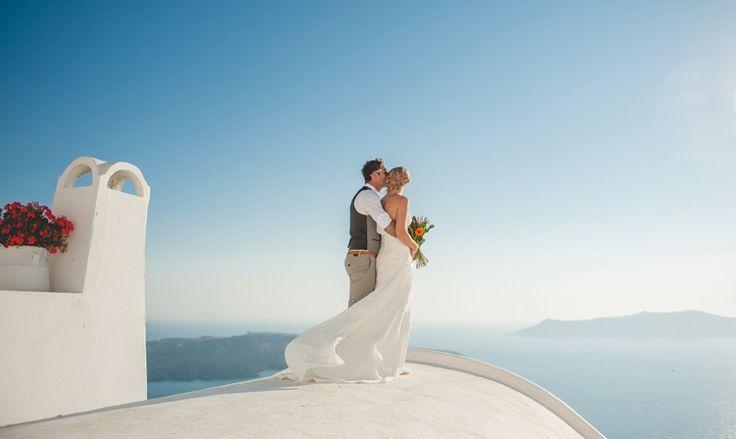 Clifftop Destination Wedding in Santorini | Fly Away Bride