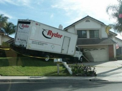 Please do not park your rental moving truck like that. Especially if you are about to sell the house..