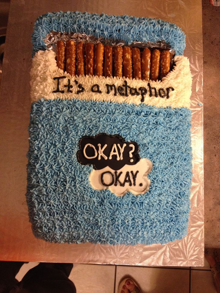 The Fault in Our Stars cake.