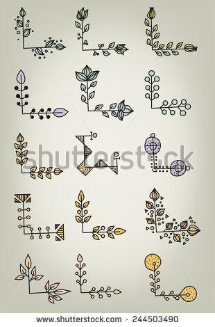 Hand gezeichnete Gekritzel-Vektor-Buch-Ecken mehr – #GekritzelVektorBuchEcken #gezeichnete #hand #Mehr