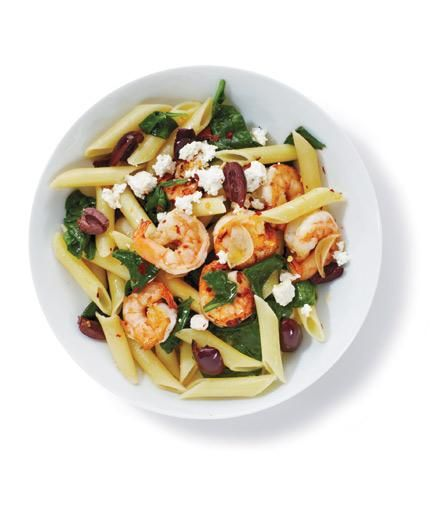 Pasta With Shrimp and Spinach | Casting your net for new dinner recipes? Reel in the family with these fast, easy shrimp dishes.