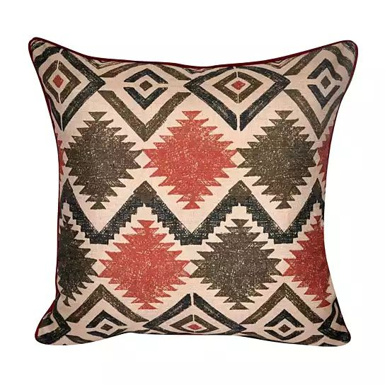 This printed southwestern designed decorative pillow is a beuatiful example of what makes this style so exciting. With a delicate blend of earthy colors and its classic southwestern design, it's a gorgeous addition to any room. Created with not only beauty, but durability in mind, we have used only the best quality fabric and a super plush removable poly fiber insert to bring comfort and style to your home decor. Type: Throw Pillow. Pattern: Southwest Chevron. Shape: Square. Technique: Pr...